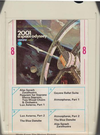2001:A SPACE ODYSSEY SOUND TRACK 8 TRACK TAPE