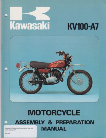 Kawasaki Assembly Preparation Manual 1976 KV100 A7
